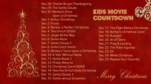 Kids Movie Countdown 2013