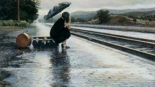 girl-woman-rain-umbrella-train-railway-station-platform-suitcase-1080x1920