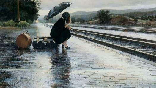 girl-woman-rain-umbrella-train-railway-station-platform-suitcase-1080x1920