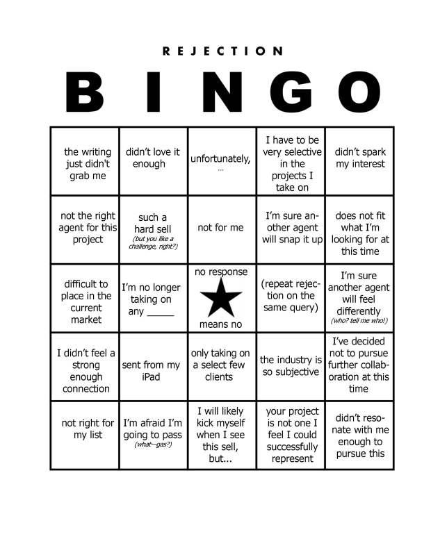 rejection bingo - rev