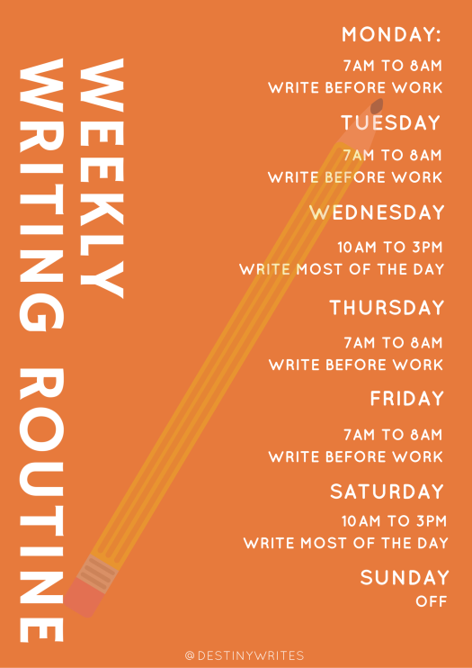 weekly writing routine